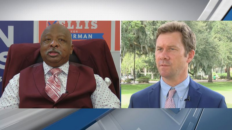 Chatham Co. Commission Chair candidates Chester A. Ellis (L) and Jason Buelterman (R).