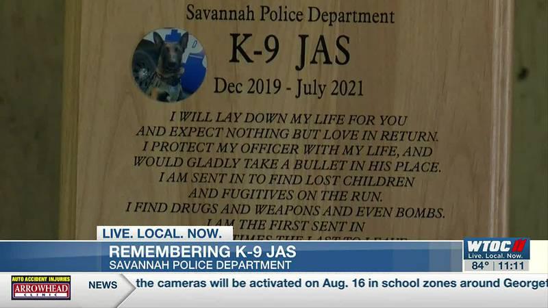 Memorial service held for Savannah Police K9 Jas