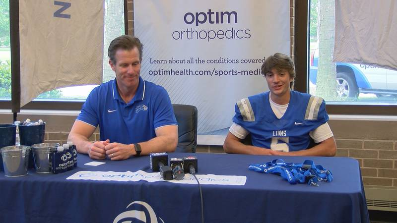 St. Andrew's incoming Coach Blake Henry and Team Captain Anthony Kusilka.