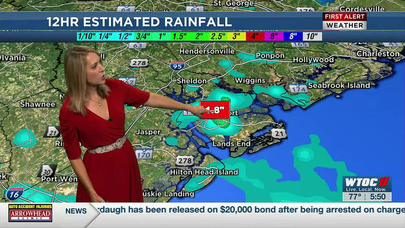 Isolated heavy downpours Friday and continue Saturday
