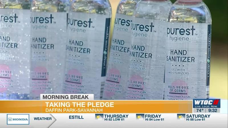 Taking a Pure Hygiene pledge in Savannah