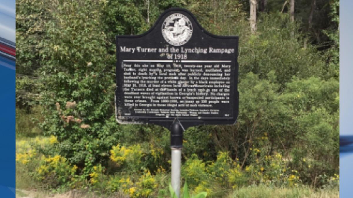 Mary Turner marker vandalized