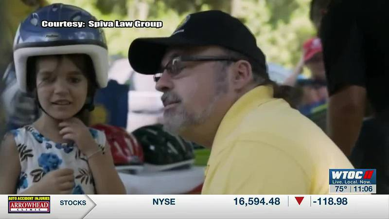 Savannah attorney giving helmets to kids