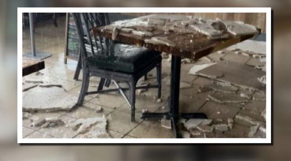 Damage caused by rain storm