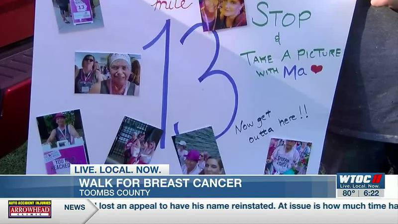 Toombs Co. team walking for breast cancer awareness