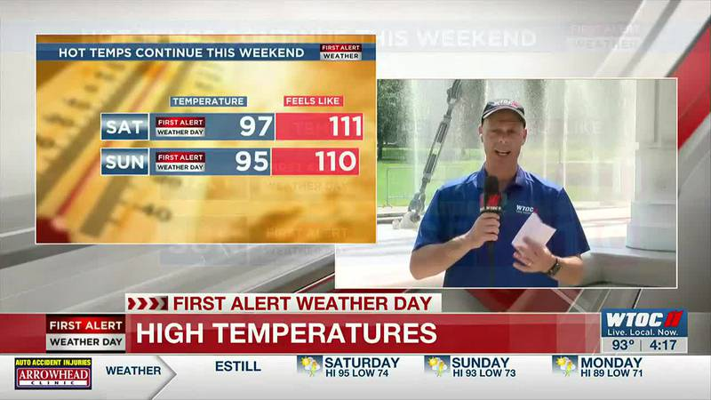Heat Advisories for the weekend too!