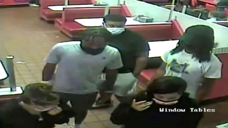 Police in New Jersey said customers abducted and assaulted a server when she tried to stop them...