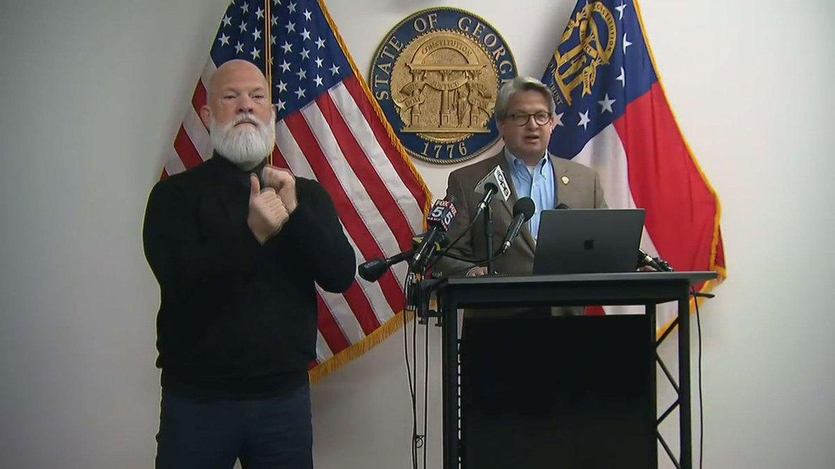Georgia Secretary of State's Office during a news conference Wednesday morning on the Senate...