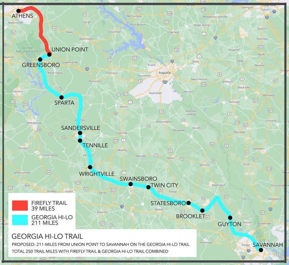 Georgia Hi-Lo Trail Map