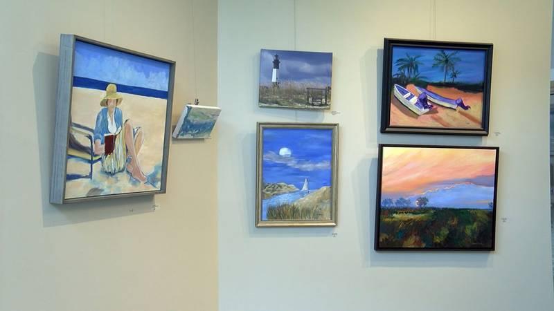 Local artwork is on display at the Savannah airport.