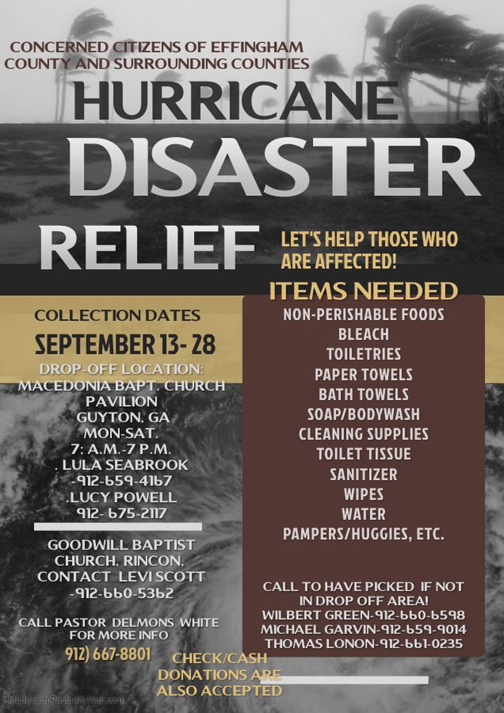 Hurricane Disaster Relief