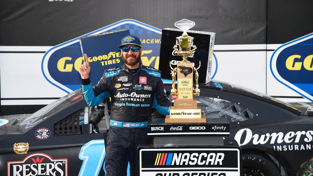 Truex swept the first two stages and led 248 laps to win his third event of the season and...