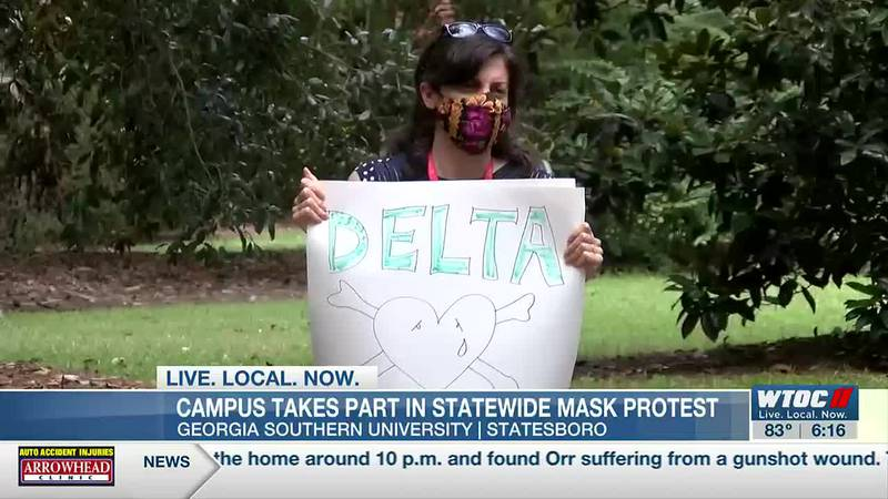 GSU Statesboro campus takes part in statewide mask ban protest