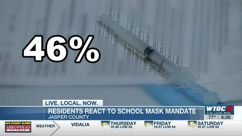 Not all Jasper Co. residents happy with mask mandate in schools