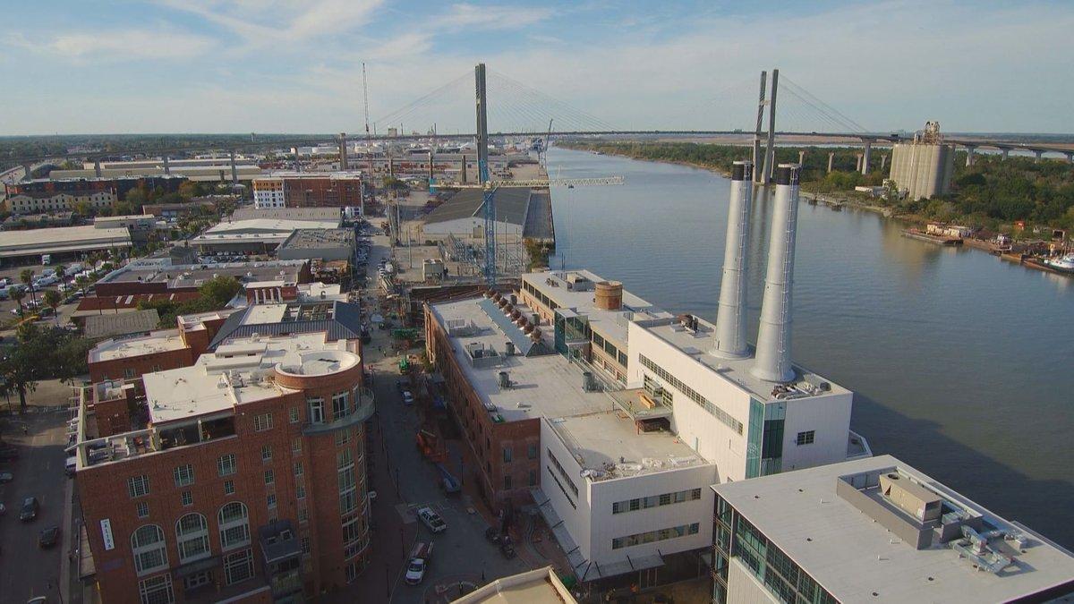 The Plant Riverside District along the Savannah River.