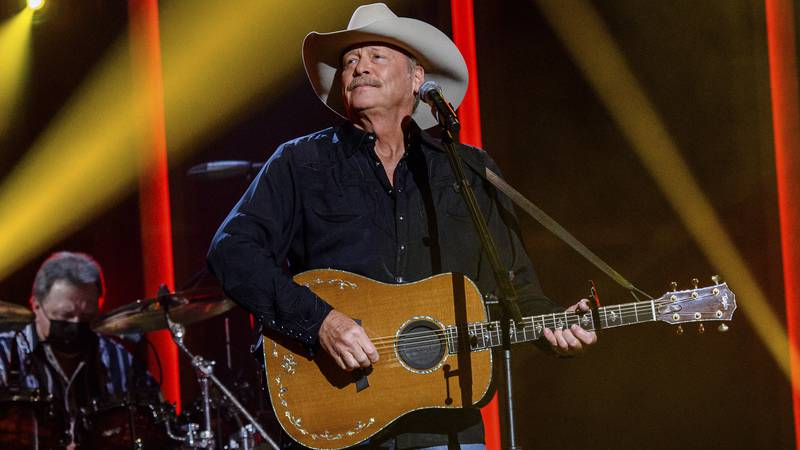 FILE - Alan Jackson performs at the 56th annual Academy of Country Music Awards on April 15,...