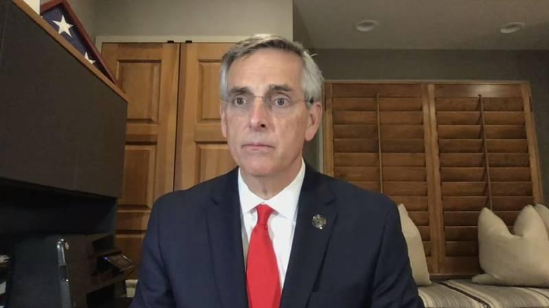 Georgia Secretary of State Brad Raffensperger has been criticized by President Donald Trump and...