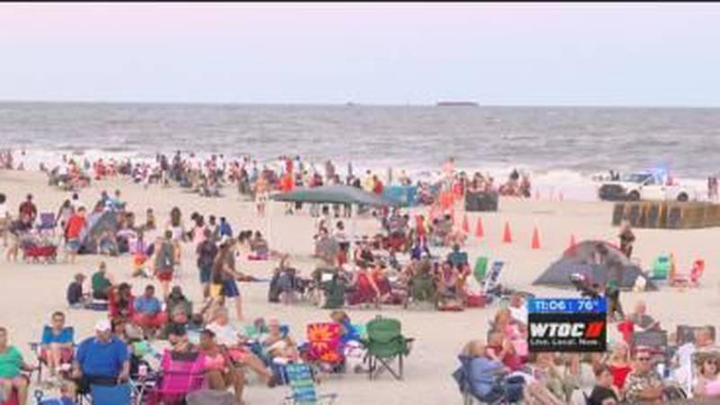 Folks celebrate on Tybee Island at 9th annual Labor Day Beach Bash a few years ago.