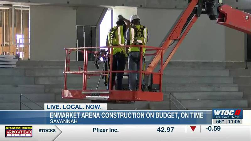 Enmarket Arena construction remains on time, on budget