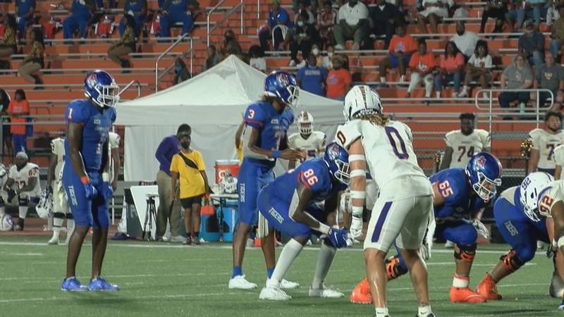 Savannah State's D'Vonn Gibbons prior to what would be the game-deciding touchdown.