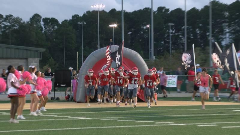Savannah Christian football takes the field Oct. 7 against Screven County.