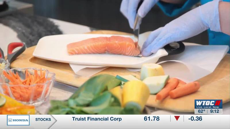 A healthy salmon dish with chef Lynn Michelle