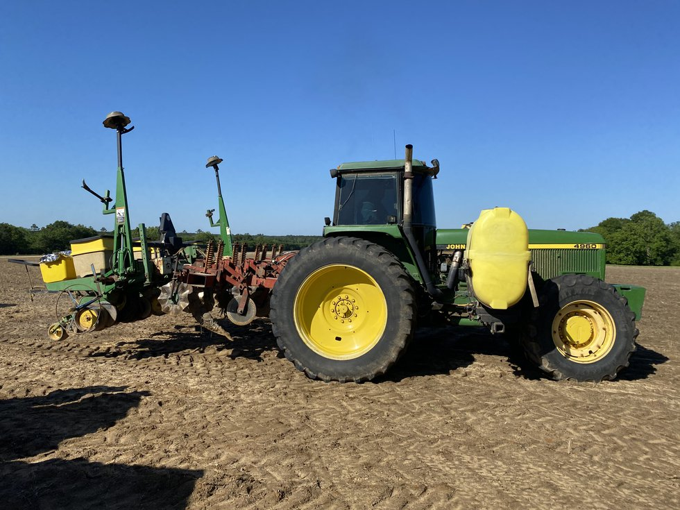 Dry fields allowed this tractor to get out and get the peanut season rolling.