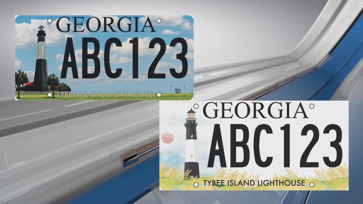 The final designs for the proposed Tybee Island Lighthouse license plate have been released.