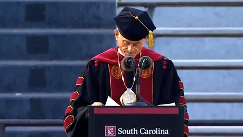 President Caslen also congratulated the graduates of the University of *California* this...