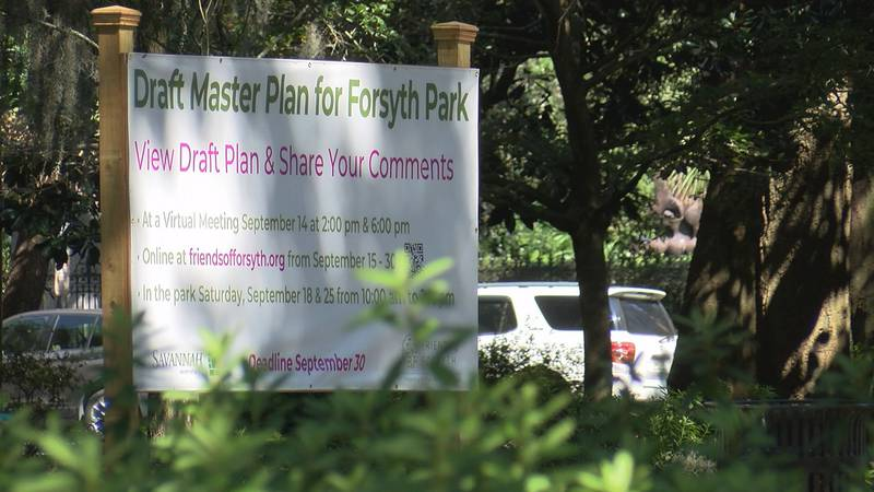 Friends of Forsyth presented the latest renovation plans to the public in Forsyth Park.