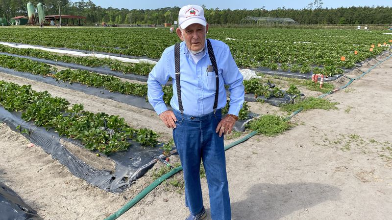 At 87-years-old, Pete Waller claims farming still keeps him young.