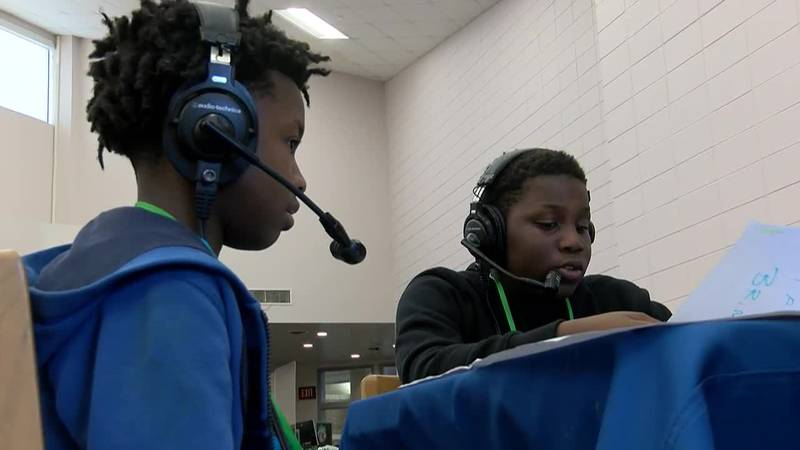Several Chatham Co. middle schoolers helped produce and host a live sports talk radio show...