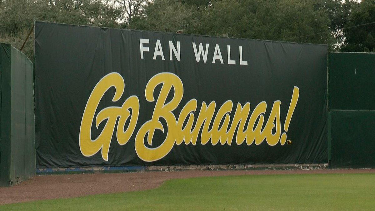 Part of the right field wall at Grayson Stadium will be the fan wall, open to be signed by fans...