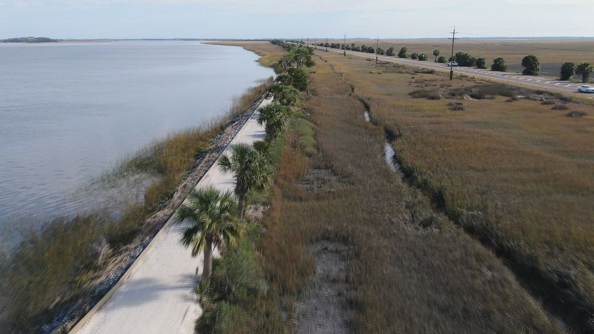 McQueen's Trail as shown by the WTOC drone