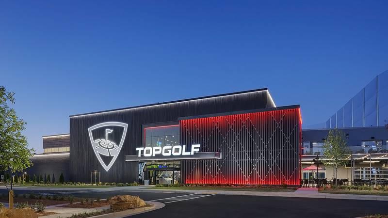 The future venue in North Charleston will be a similar design as Topgolf Buford (Georgia),...