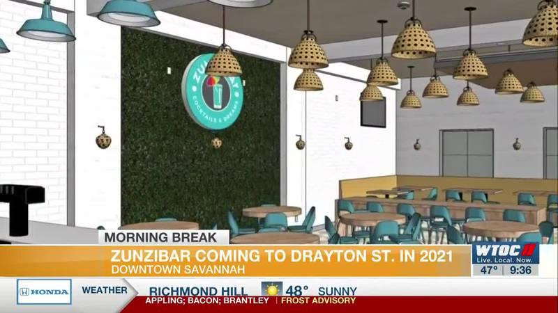 Zunzibar coming to Drayton St. in 2021
