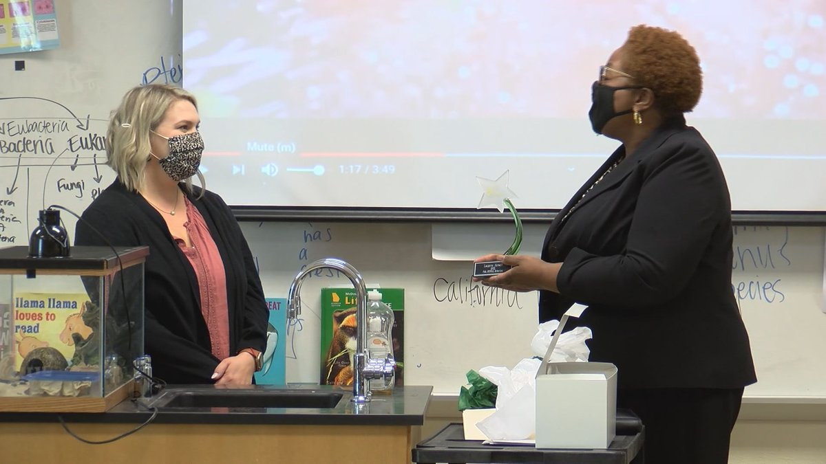 A local teacher is being recognized for her work in STEM education.