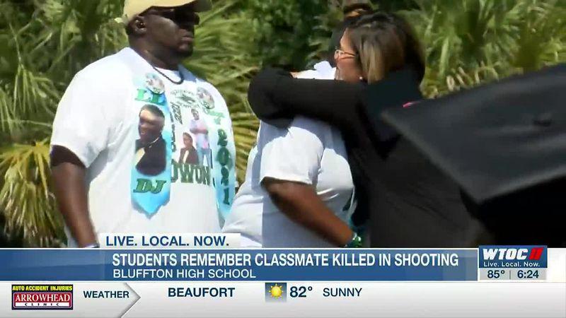 Bluffton High class of 2021 remembers slain classmate at graduation