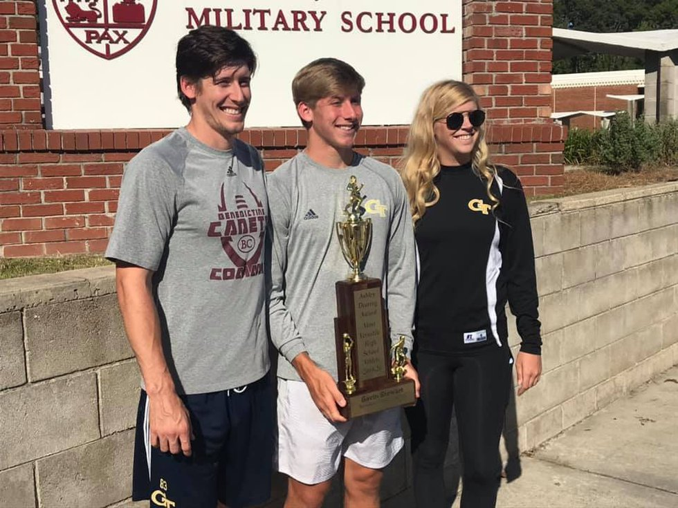 Benedictine's Gavin Stewart joins brother Brad and sister Sarah in being named Chatham County's...