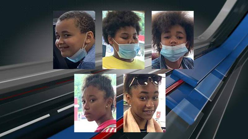 Rasheed Ali, Jr., 7; November Robinson, 10; Daniya Champagne, 12; Da'Nesha Champagne, 13; and...