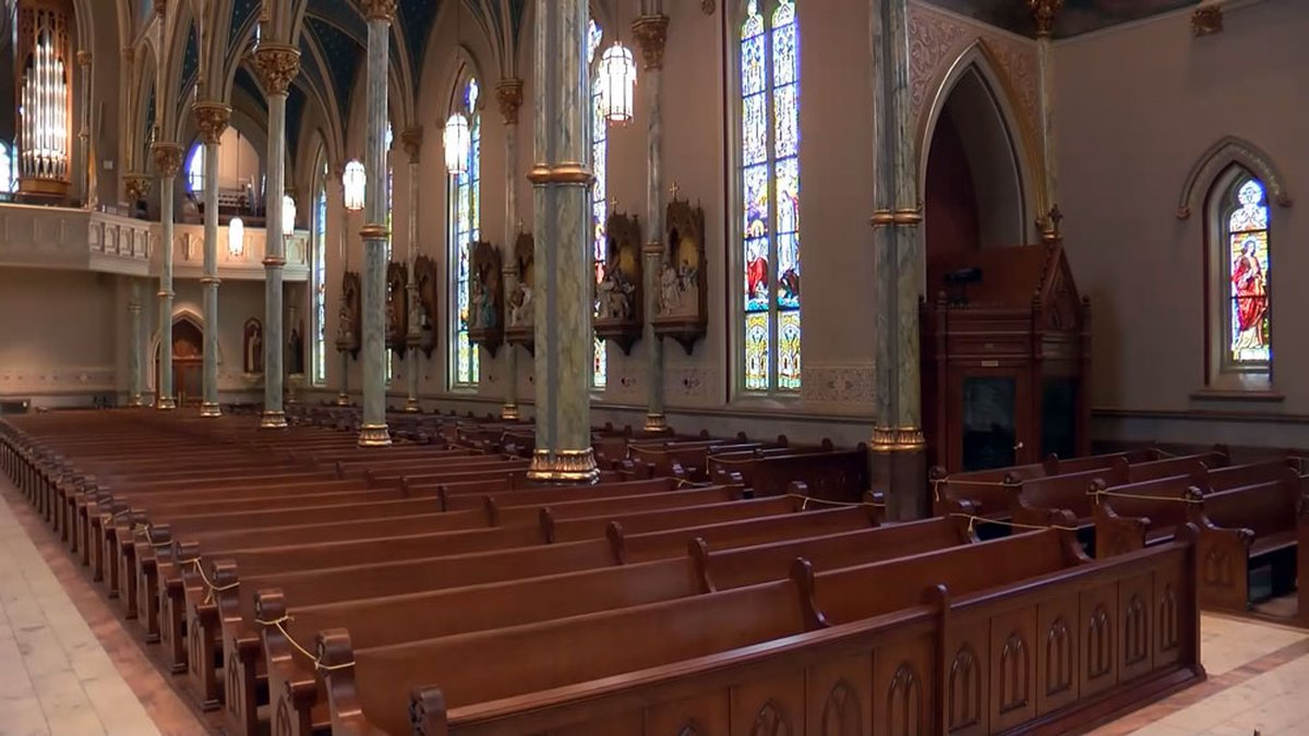 Inside the Cathedral Basilica of St. John the Baptist in downtown Savannah.