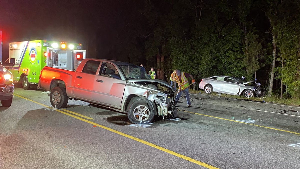 The wreck happened just before 11 p.m. Monday night on East Oglethorpe Highway near Liberty...