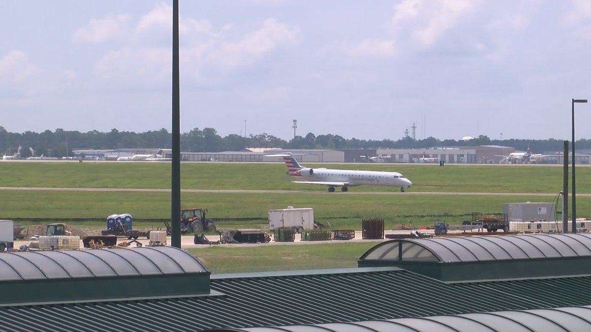 A plane takes off at Savannah-Hilton Head International Airport.