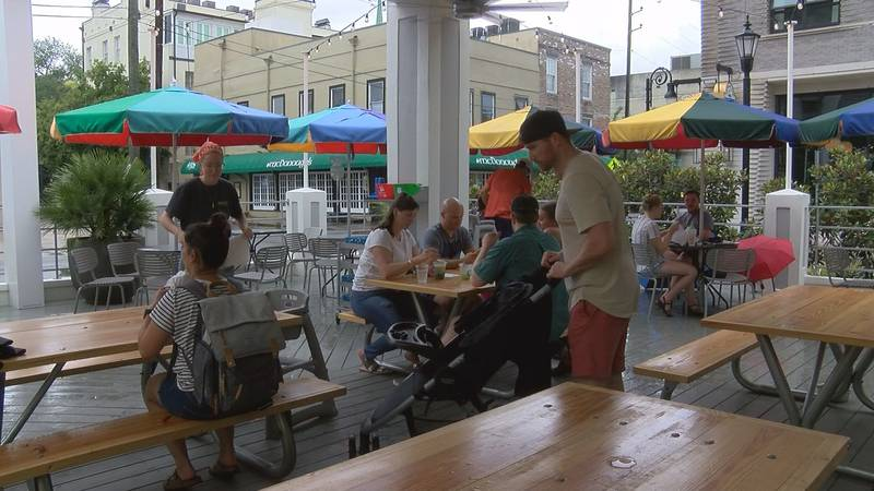 Downtown Savannah businesses are feeling the impact of crowds returning after no Fourth of July...