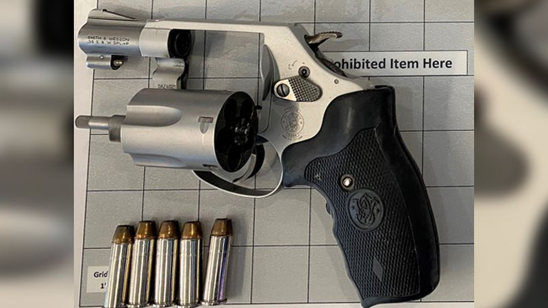 TSA officers at LaGuardia Airport detected this loaded handgun in a traveler's carry-on bag.