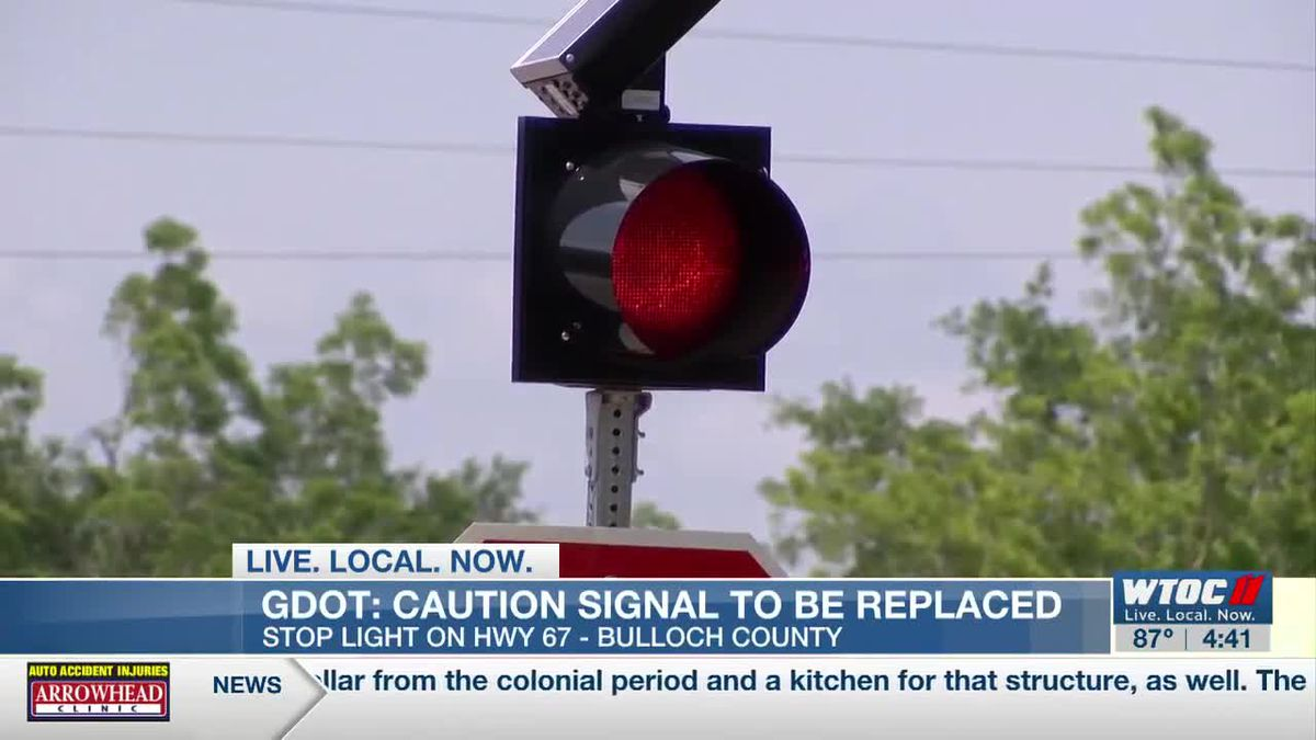 Stop light coming to Hwy 67 intersection