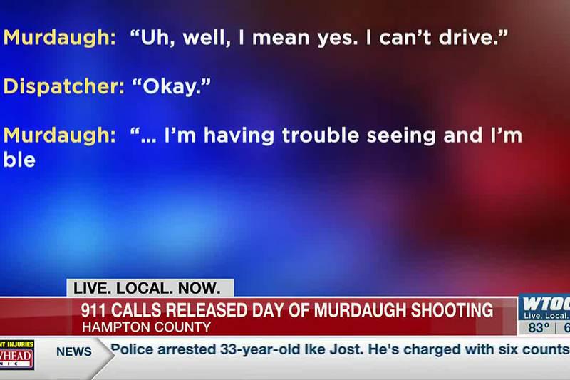 911 calls released from shooting involving Alex Murdaugh in Hampton County