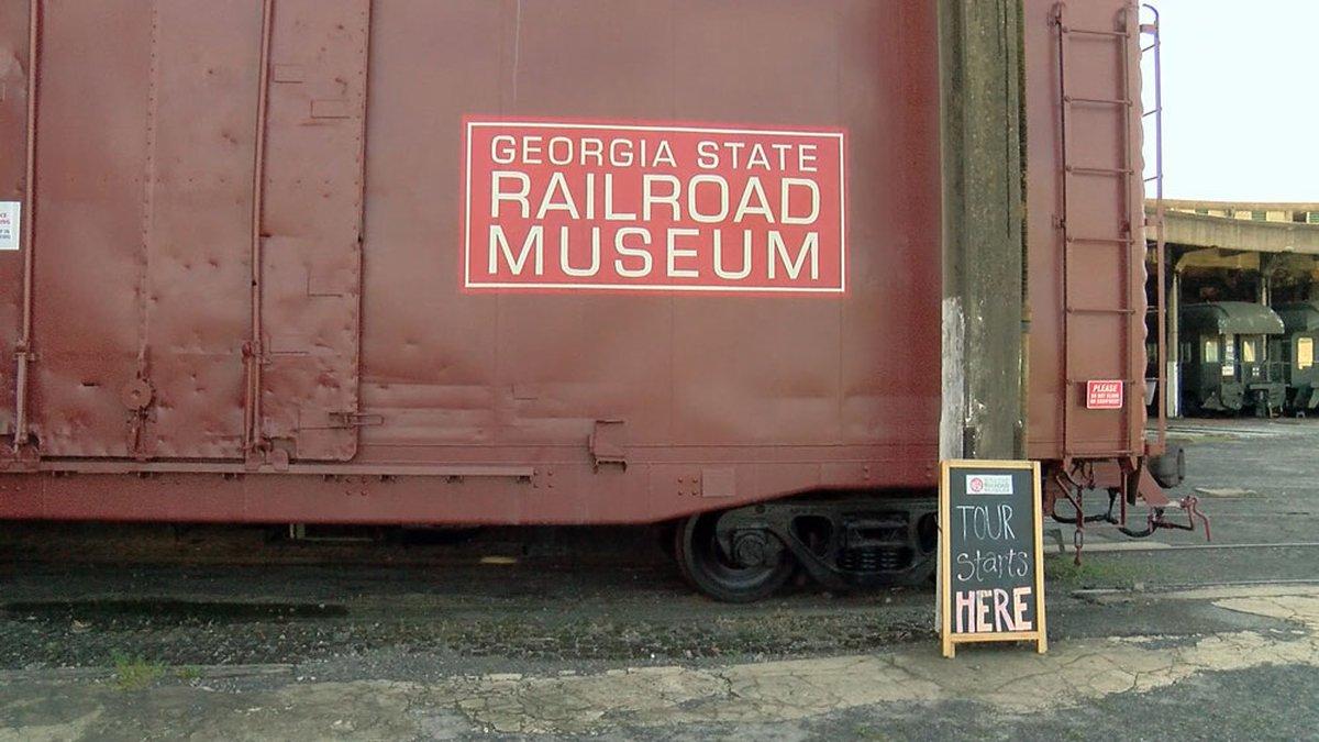 The Georgia State Railroad Museum in Savannah, Ga.