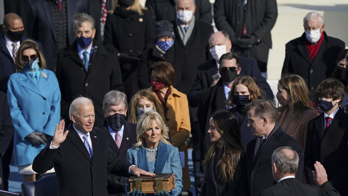 Joe Biden is sworn in as the 46th President of the United States on Capitol Hill in Washington...