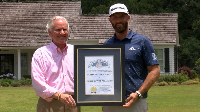 Dustin Johnson, the world's top ranked golfer and an Irmo native, was awarded South Carolina's...